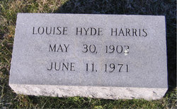 Louise <I>Hyde</I> Harris