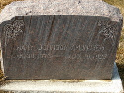 Mary Johanna <I>Johnson</I> Amundsen