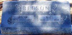 "Mary Jane ""Jennie"" <I>Garner</I> Beeson"