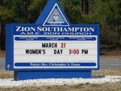 Zion Southampton AME Church Cemetery