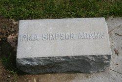 Irma G <I>Simpson</I> Adams