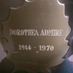 Dorothea <I>Boren</I> Admire