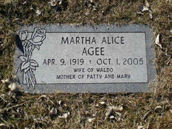 Martha Alice <I>Dake</I> Agee