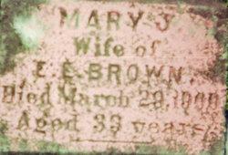 Mary Jane <I>Kniveton</I> Brown