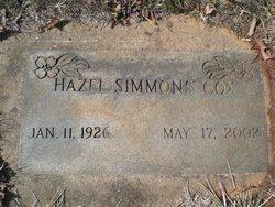 Hazel <I>Simmons</I> Cox