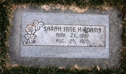 Sarah Jane <I>Humphrey</I> Adams