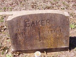 Letha Angeline <I>Malone</I> Baker
