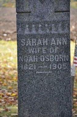 Sarah Ann <I>Fox</I> Osborn