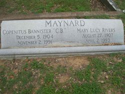 "Judge Copentitus Bannister ""C.B."" Maynard"