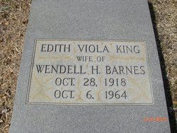 Edith Viola <I>King</I> Barnes