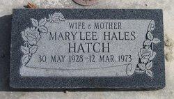 Mary Lee <I>Hales</I> Hatch