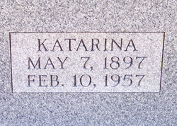 Katarina (Katherine) <I>Spinner</I> Eberhardt