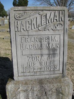 "Arizona J. ""Zona"" <I>Jackson</I> Hackleman"