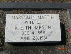 Mary Ann <I>Martin</I> Thompson