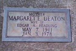 Margaret Ellen <I>Deaton</I> Readling