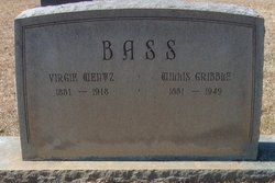 "Virginia ""Virgie"" <I>Wentz</I> Bass"