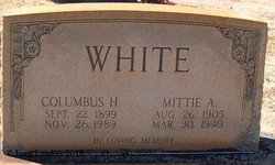 Mittie A <I>Steele</I> White