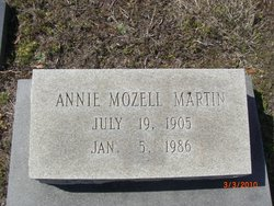 Annie Mozell <I>Martin</I> Martin