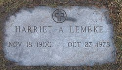 Harriet A Lembke