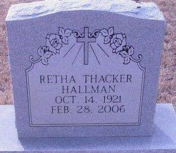 Retha <I>Thacker</I> Hallman