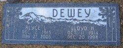 Lloyd H Dewey