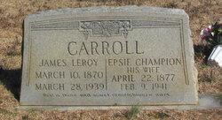 Epsie <I>Champion</I> Carroll