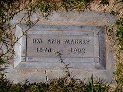 Ida Ann <I>Woods</I> Mabery