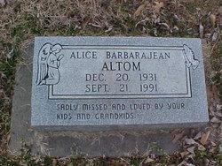 Alice BarbaraJean Altom