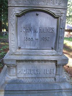 "Jonathan Ansel ""John A."" Haines"