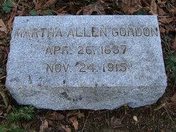 Martha <I>Allen</I> Gordon