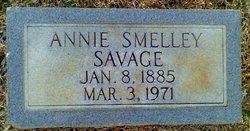 Annie Frances <I>Smelley</I> Savage