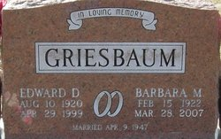 Barbara M. <I>Bellm</I> Griesbaum