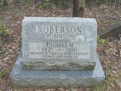 Thomas M <I>Roberson</I> Robinson