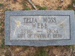 Mary Amanda Telia <I>Moss</I> Webb