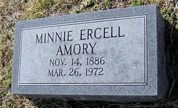 Minnie Ercell <I>Forrest</I> Amory
