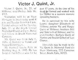 Victor J Quint, Jr