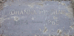 Johanna Helen <I>Voss</I> Hinshaw