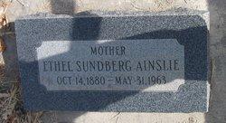 Ethel Cora <I>Sundberg</I> Ainslie