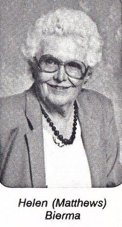 Helen Mary <I>Matthews</I> Bierma