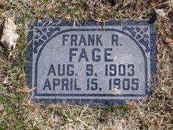 Frank Raymond Fage