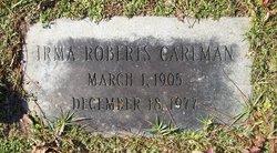 Irma <I>Roberts</I> Carlman