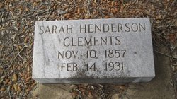 Sarah <I>Henderson</I> Clements