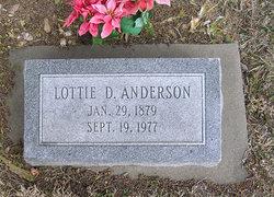Lottie D. <I>York</I> Anderson