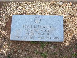 Sgt Elvis L. Shafer