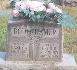 "Nancy A. ""Nannie"" <I>Eddings</I> Bodenhamer"