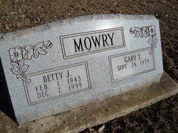 Betty J. <I>Finn</I> Mowry