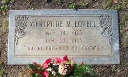 Gertrude M Lovell