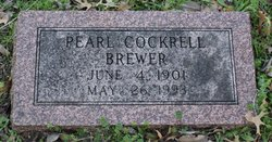 Pearl L <I>Cockrell</I> Brewer
