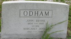 Margaret Frances <I>Jones</I> Odham