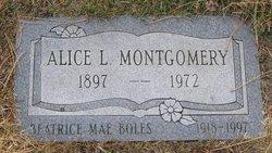 Alice Lucy <I>Back</I> Montgomery
